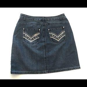 Christopher & Banks Skirts - CHRISTOPHER & BANKS blue denim jean skirt 4